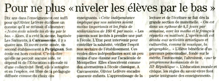 Article du Midi Libre - septembre 2013